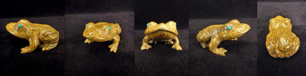 Zuni Rock (travertine) Frog by Melvin Eriacho
