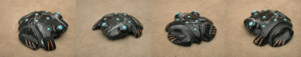 Black Marble Frog by Andrew and Laura Quam, Deceased