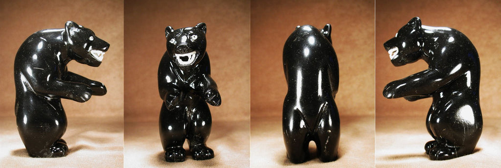 Black Marble Bear, Large by Vern Nieto