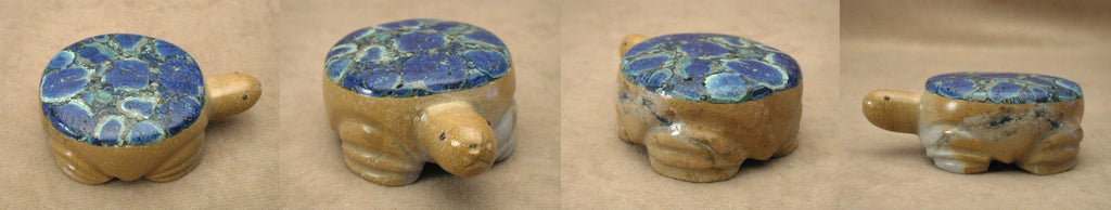 Zuni Rock (travertine) Turtle by Felino Eriacho