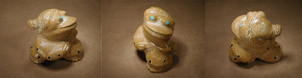 Zuni Rock (travertine) Frog by Hayes Leekya