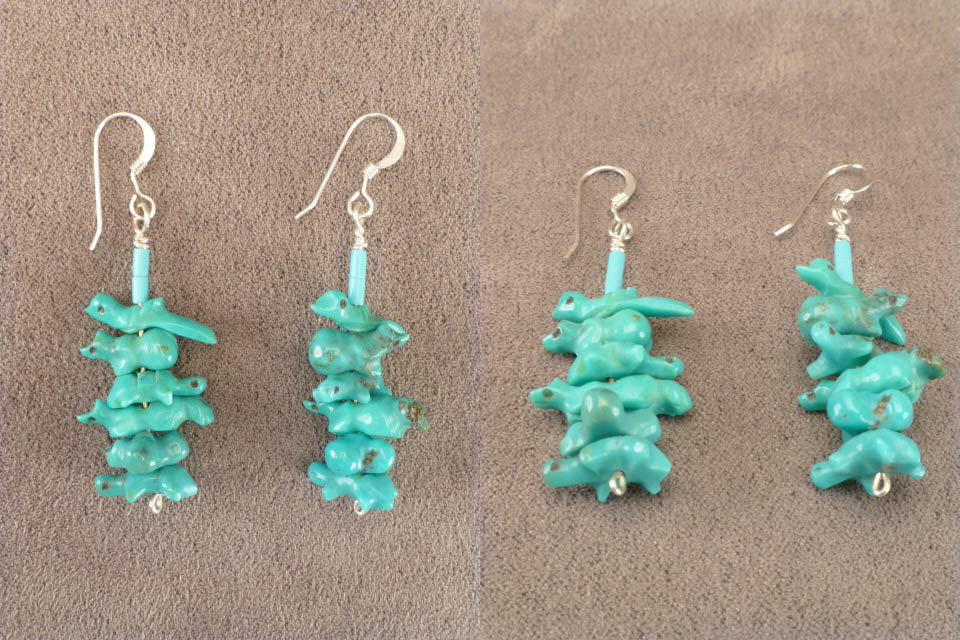 Turquoise* Multi Animal Earrings  by Reva Halate