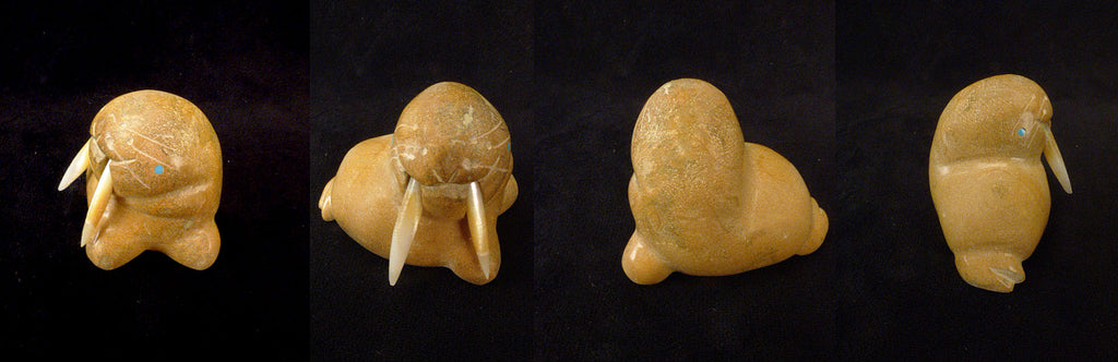 Zuni Rock (travertine) Walrus by Gayla Eriacho