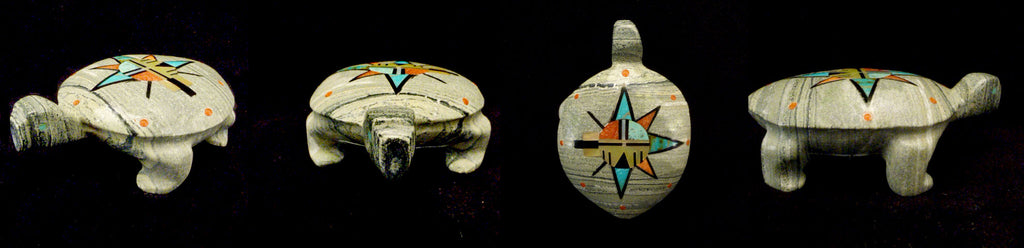 Ricolite (Serpentine) Turtle by Andres Lementino