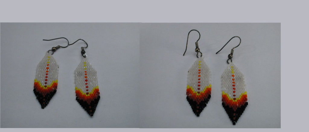 Beadwork Feather by an Unknown Navajo