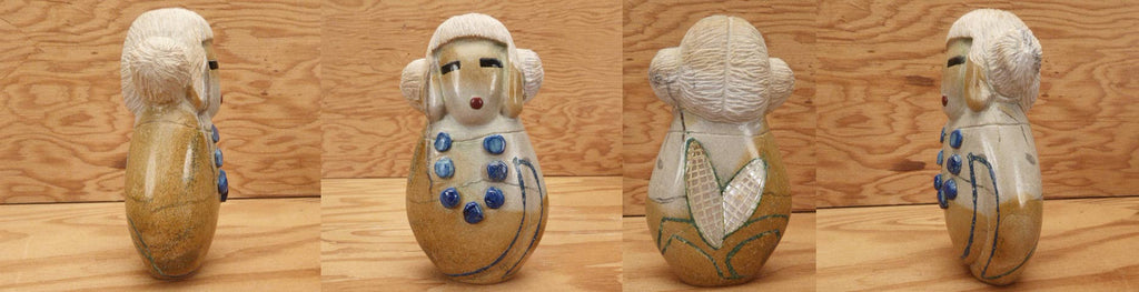 Zuni Rock (travertine) Maiden by Gayla Eriacho