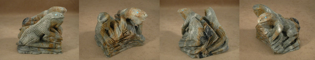 Picasso Marble Lizards by Calvin Weeka, Jr.