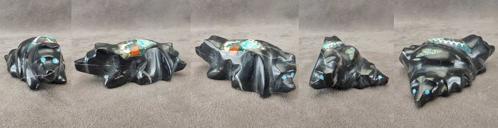 Black Marble Bear Family by Jayne Quam