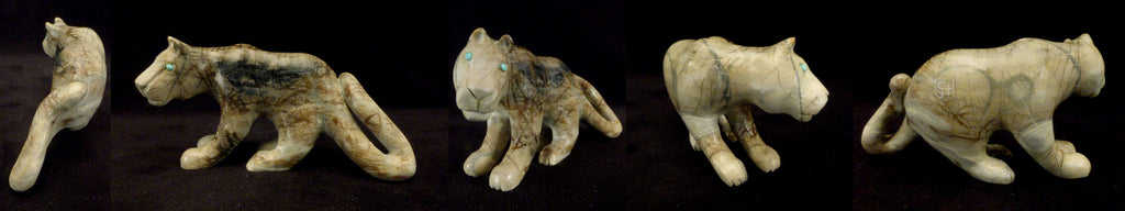 Picasso Marble Mountain Lion by Clive and Jonas Hustito