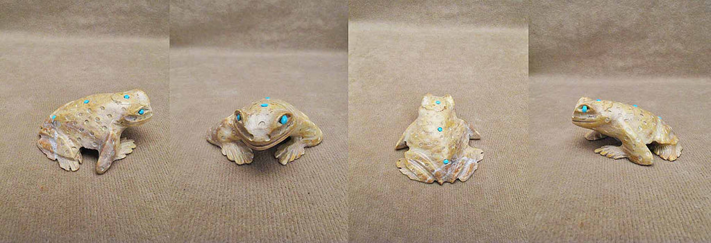 Zuni Rock (travertine) Frog by Dana Malani