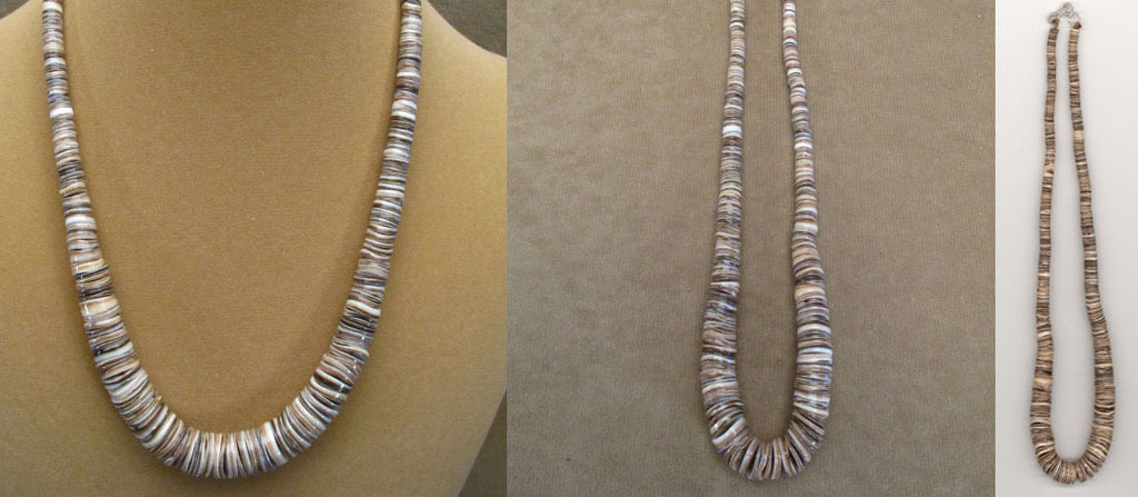 Shell Heishe Necklace by Lita Atencio