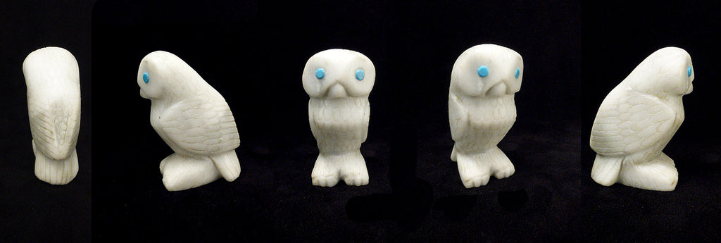 Marble Bird, Snow Owl by Michael Coble