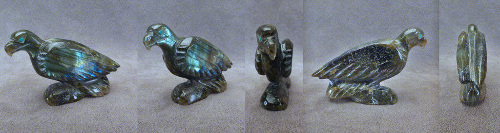 Labradorite Bird, Eagle by Hiram Peynetsa