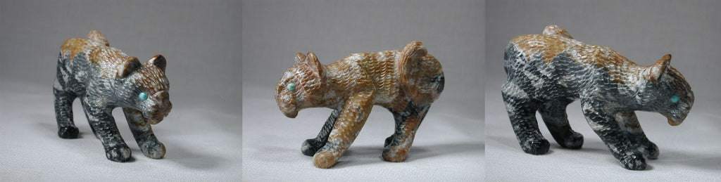 Picasso Marble Bobcat by Wilfred Cheama