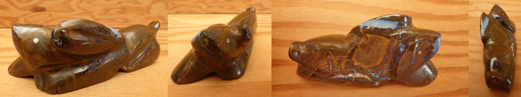 Boulder Opal Rabbit by Debra Gasper and Ray Tsethlikai