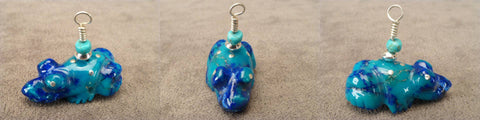 Sterling Silver / Chrysocolla Frog by Debra Gasper and Ray Tsethlikai