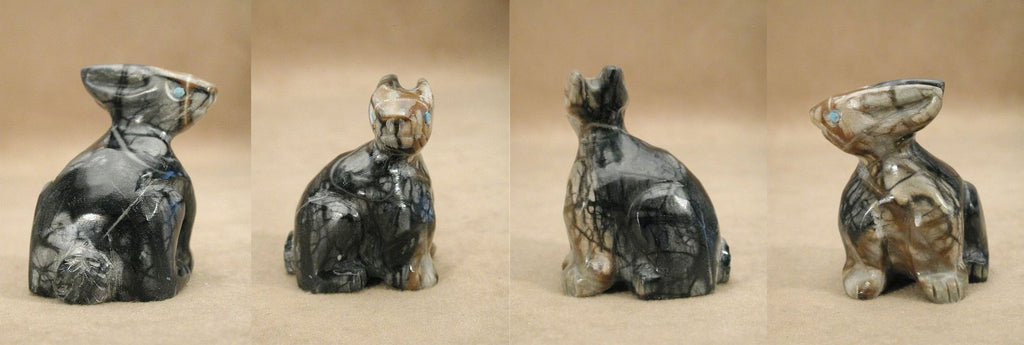 Picasso Marble Rabbit by Yancy Robert Halusewa,Deceased