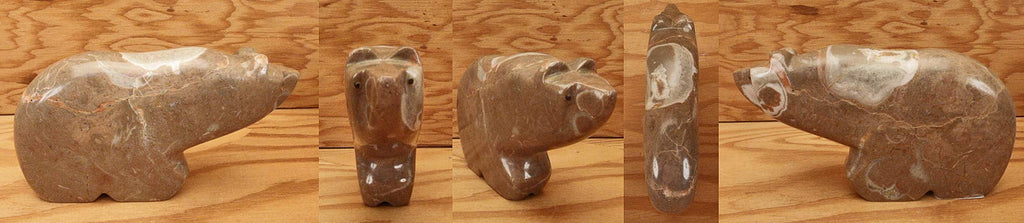 Nutria Box Canyon Alabaster Bear by Orin Eriacho
