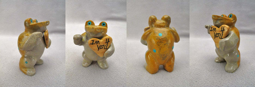 Zuni Rock (travertine) Frog by Enrike Leekya