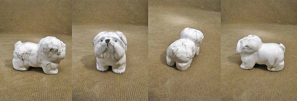 Howlite Dog, Pug by Felissa Martin