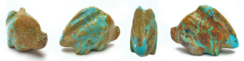 Number Eight Mine Turquoise Rabbit by Debra Gasper and Ray Tsethlikai