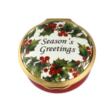 Halcyon Days, Season's Greetings Hinged Enamel Box