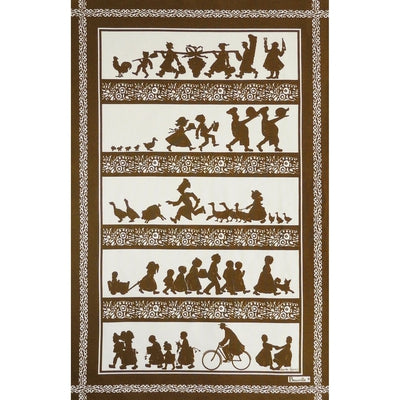 Silhouettes Chocolate Kitchen / Tea Towel