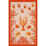 Aquarius Coral Kitchen / Tea Towel