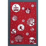 Boules de Neige Winter / Christmas Kitchen / Tea Towel- Limited