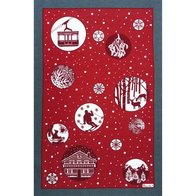 Marche de Noël  (Christmas Market) Kitchen / Tea Holiday Towel, Limited