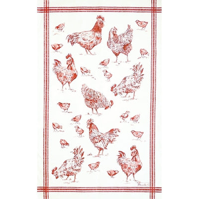 Basse-Cour (Barnyard), Rouge Kitchen / Tea Towel