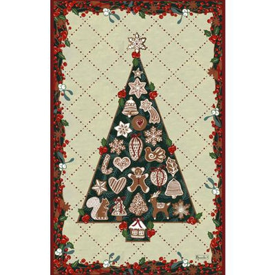 Sapin Gourmand (Gourmet Holiday Tree) Christmas Kitchen / Tea Towel