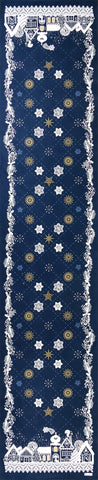 La Nuit Étoilée (Starry Night), Blue Christmas / Holiday Tablecloth