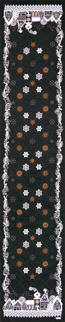 Beauvillé, La Nuit Étoilée Anthracite Christmas Table Runner