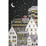 La Nuit Étoilée (Starry Night), Anthracite Christmas / Holiday Tablecloth