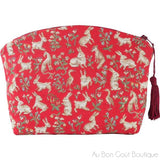 Mille Fleurs et Animaux French Tapestry Zippered Case (Pouchette)