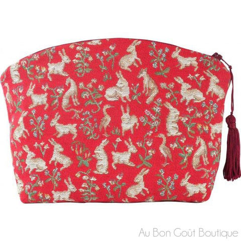 Tulips Double-Sided French Tapestry Zippered Case (Pouchette)