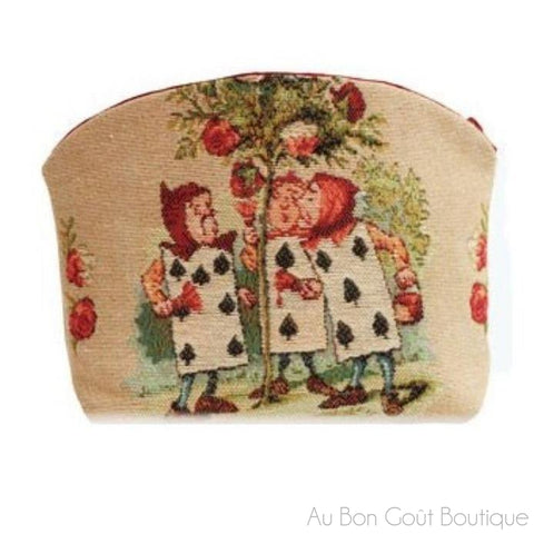 Les Jardinniers (The 3 Gardeners) French Tapestry Jacquard Zippered Case (Pouchette)