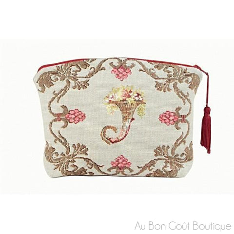 Joséphine (Josephine) French Tapestry Jacquard Zippered Case (Pouchette)