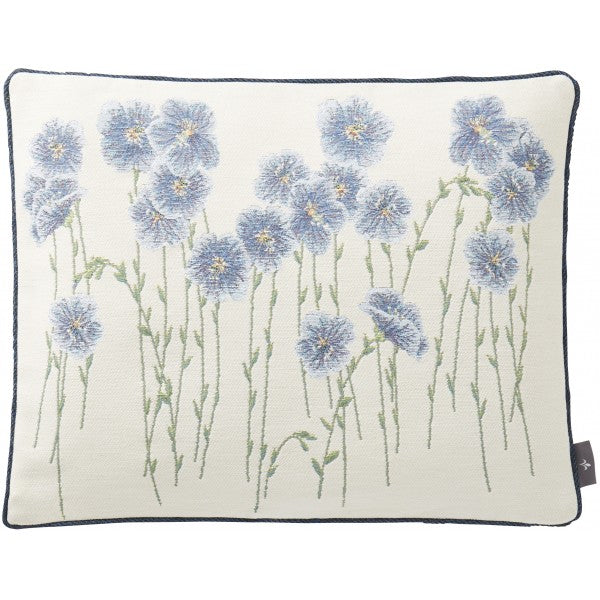 Blue Flax Flower Field Tapestry Pillow / Cushion Cover with Insert