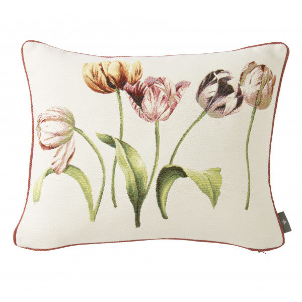 Five Tulips Tapestry Pillow / Cushion Cover with Insert