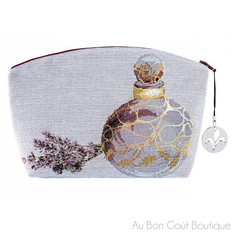 Lavender Perfume Double-Sided French Tapestry Zippered Case (Pouchette)