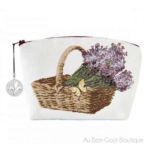 Lavender Fields Double-Sided French Tapestry Zippered Case (Pouchette)