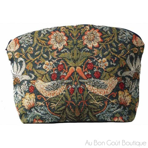 Oiseaux (2 Birds) Face à Face French Tapestry Zippered Case (Pouchette)