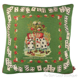 Les Jardinniers, Vert (The Gardeners Green) Tapestry Pillow / Cushion Cover