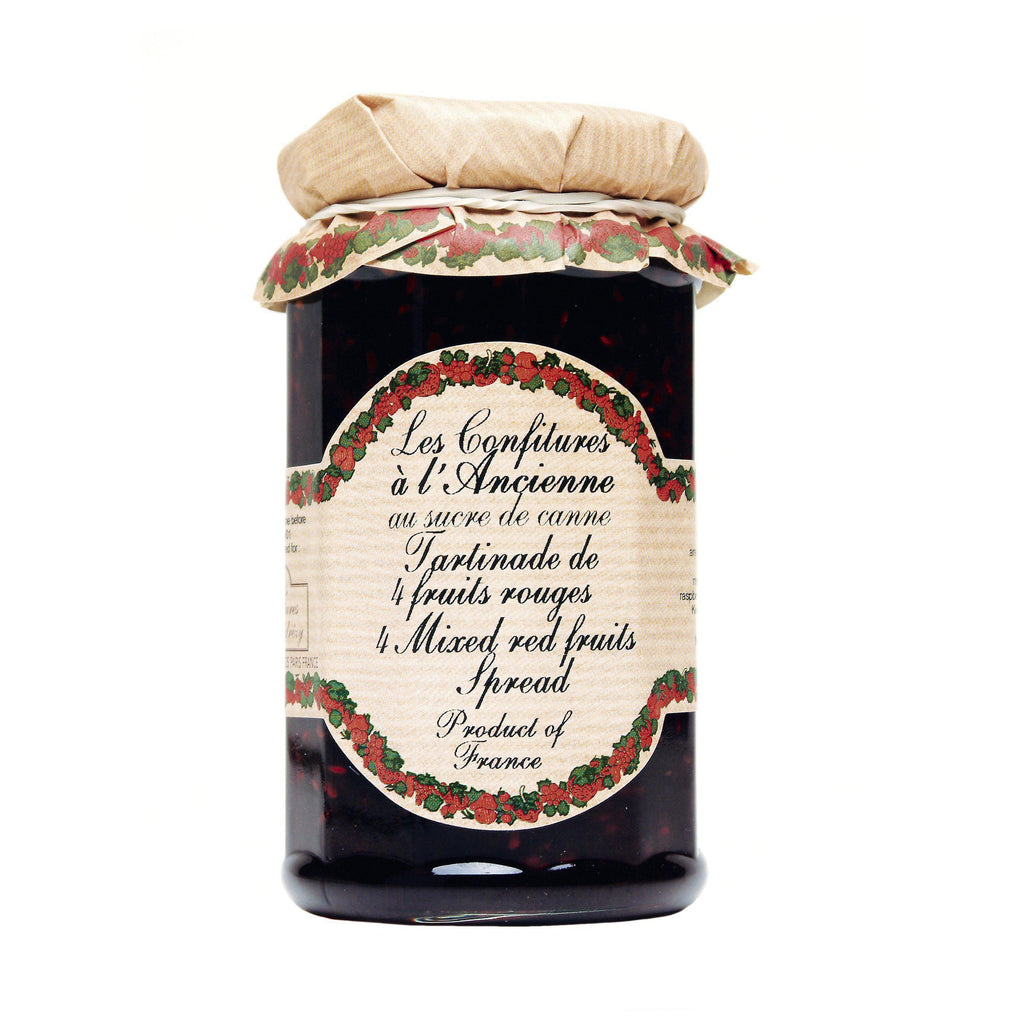 Les Confitures à la Ancienne, Four Mixed Red Fruits French Preserves (4 Fruits Rouges)