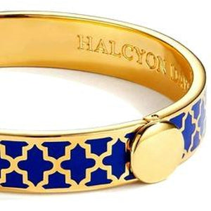 Halcyon Days, Agama Deep Cobalt & Gold Hinged Bracelet