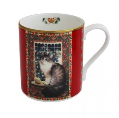 Halcyon Days, Octopussy the Cat at Christmas China Mug