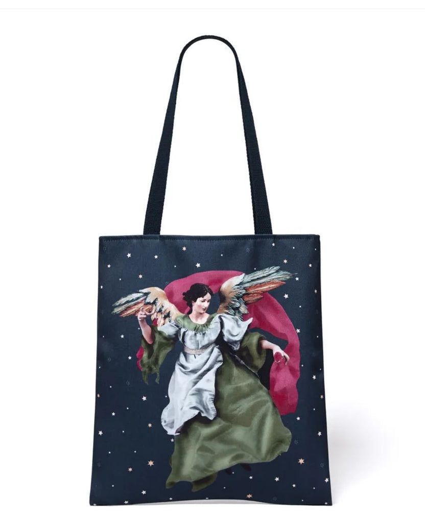 """Angel Tree"" Christmas Cotton Canvas Tote, MMA"
