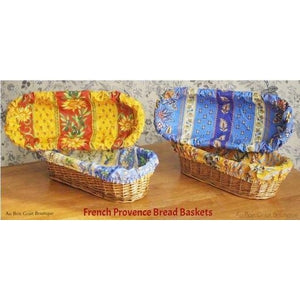 Sunflower Red & Orange French Bread Basket